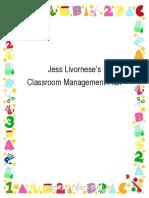 classroom managment guide - jess livornese