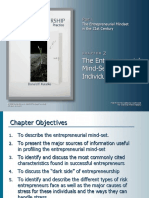 The individuals Entrepreneurial mind-set and personality Chapter 2 by  kuratko