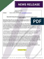 HMG News Release - Nursing Students 2 Pg