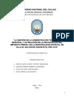 INVESTIGACIÓN FORMATIVA - REGÍMENES ESPECIALES
