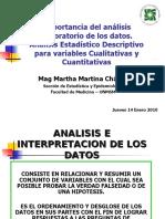ANALISIS DE DATOS EN INVESTIGACION