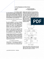 Estimation of Load Impedance in a Power System
