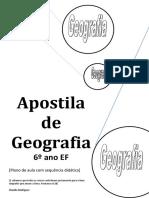 apostila  geografia 6 ano 3 bimestre