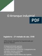 O arranque industrial