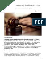 rubenfigari.com.ar-Pormenores de la administración fraudulenta art 173 inc 7º CP