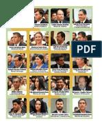 ALCALDES Y GOBERNADORES DE LOS 9 DEPARTAMENTOS DE BOLIVIA