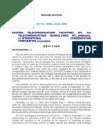 EASTERN TELECOMMUNICATIONS PHILIPPINES, INC. and TELECOMMUNICATIONS TECHNOLOGIES, INC., petitioners, vs. INTERNATIONAL COMMUNICATION CORPORATION, respondent.