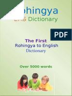 rohingya to english dictionary 5000plus words -a2  v6