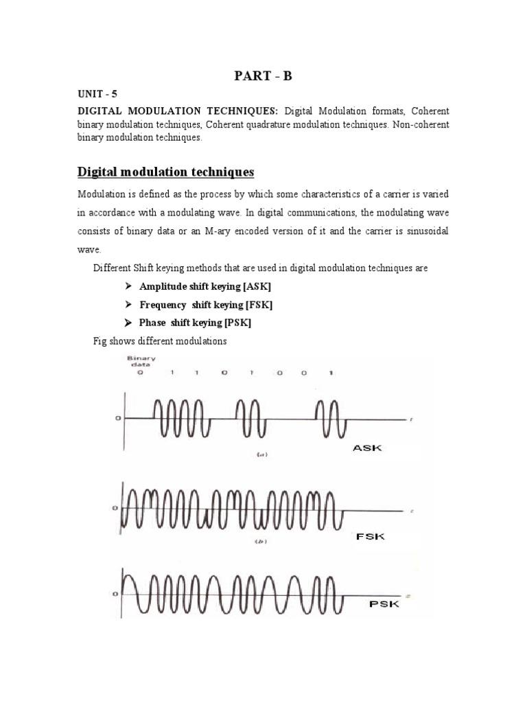 Digital Communication Unit 5 By Punith Kumar M B Modulation Ary Psk Transmitter Block Diagram Detector Radio