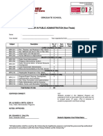 MPA TRACKING FORM (NonThesis)