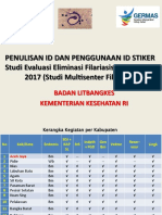 Pedoman Penulisan ID dan Penggunaan ID Stiker (Studi Multicenter filariasis 2017)_pasca media.ppt