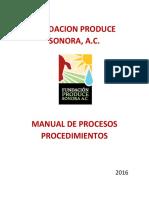 MANUAL DE PRCS Y PROCDMS