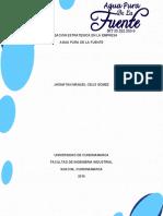 proyecto agua- Administracion estrategica