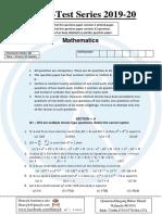 CBSE Math Test-01