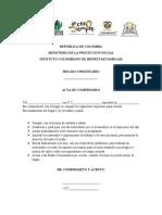 ACTA DE COMPROMISO Y REGISTRO DE MATRICULA PILATUNAS