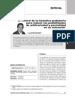 El control de la iniciativa probatoria para reducir las posibilidades de arbitrariedad y parcialidad en su actuación-LUIS ALFARO