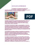 psicologia educativa ante los problemas de aprendizaje