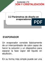 2.2 - EXPO - Parámetros de diseño en evaporadores - Dr. Jose A. Sarricolea Valencia