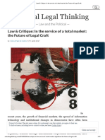 Law & Critique_ In the service of a total market_ the Future of Legal Craft