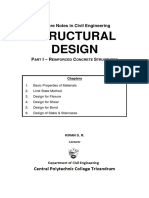 Structural Design of Reinforced Concrete Structures