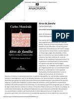 Aires de familia - Monsiváis, Carlos - 978-84-339-0597-0 - Editorial Anagrama