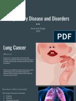 respiratory disease and disorders  1