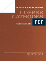 ASTM - STP 831 - Sampling and Analysis of Copper Cathodes