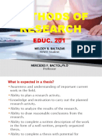 METHODS OF RESEARCH ppt