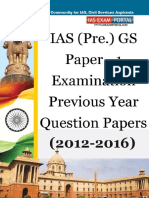 IAS Pre General Studies Paper 1 5 Years Question Papers e Book