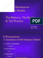 Internet+Business to Business+Models