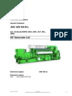 Appendix B  Jenbacher Data Sheet JGC420GSNL B302 250NOx