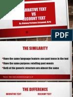 NARRATIVE TEXT vs RECOUNT TEXT