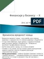 Finansije u biznisu - Predavanja 10