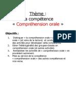 3- Exposé rédigé Compréhension orale