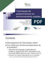 Techniques Positionnement Environnements Mobiles