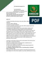 AMISOM Donates Operational Equipment to Southwest Police