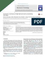 Gravimetric enrichment of high lipid and starch accumulating microalgae