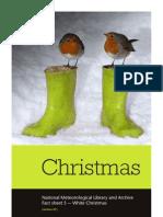 Met Office - White Christmas Fact Sheet