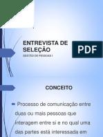 IPUFU31702 (3)(6) – Entrevista de Seleção