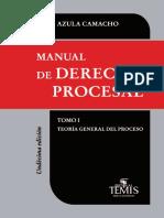 TEORIA GENERAL DEL PROCESO  MANUEL AZULA CAMACHO