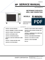 Sharp R-969 microwave oven Service Manual