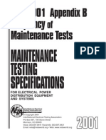 Frequency of Maintenance Testing