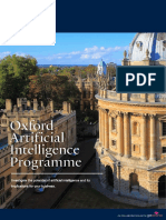Oxford Artificial Intelligence Programme Prospectus