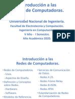 Introducción a las  Redes de Computadoras - 2020