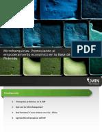 Microfranquicias Promoviendo el empoderamiento económico en la base de la pirámide.ppt
