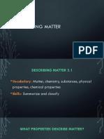 Describing Matter (PDF)