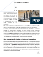 Non-Destructive Evaluation of Unknown Foundations