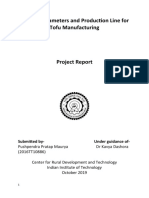 Process Parameters and Production Line for Tofu Manufacturing
