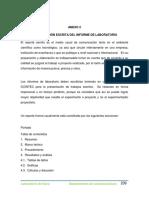 PRESENTACIÓN ESCRITA DEL INFORME DE LABORATORIO