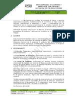PGF-01 Compras y seleccion evaluacion y reevaluacion de proveedores